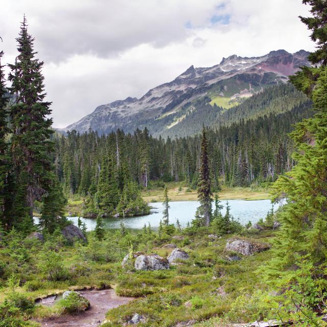 """Callaghan Lake, British Columbia, Canada"" stock image"