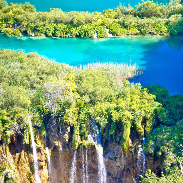 """Plitvice lakes national park vertical view"" stock image"