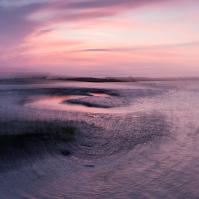 """River Deben sunset abstract"" stock image"