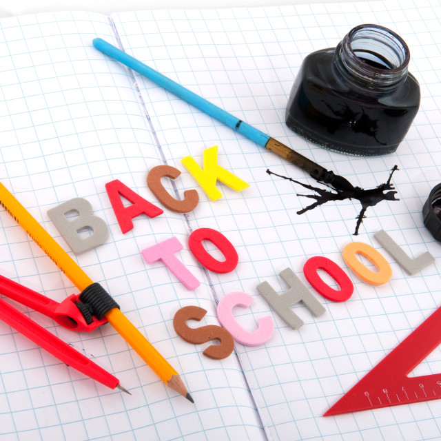 """old fashioned back to school"" stock image"