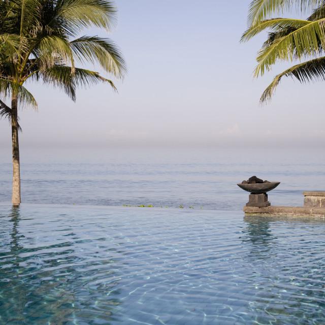 """Luxury swimmingpool by the beach"" stock image"