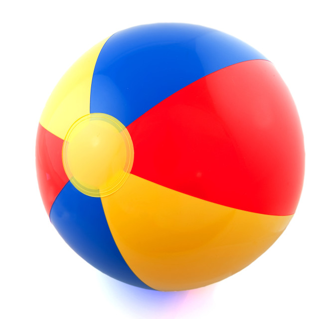 """Beach ball"" stock image"