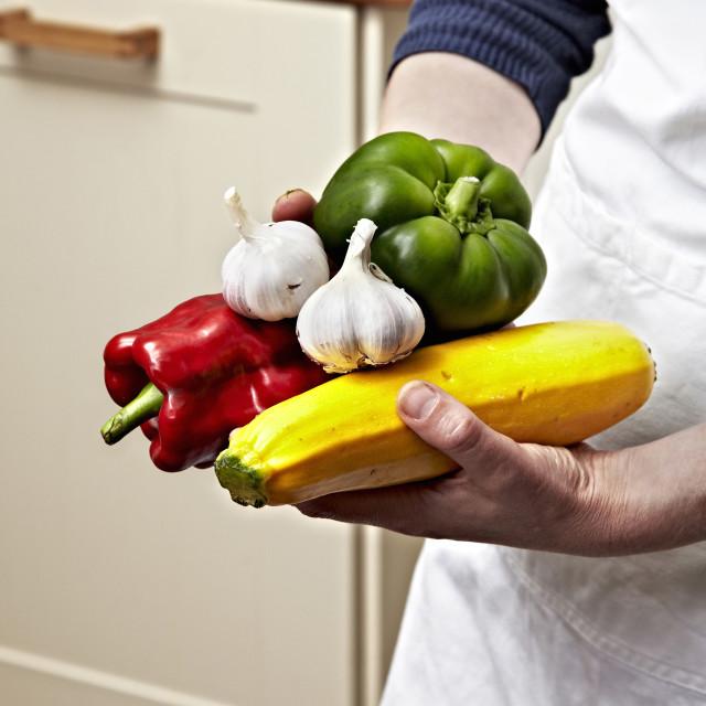 """Hands Vegetables 03"" stock image"