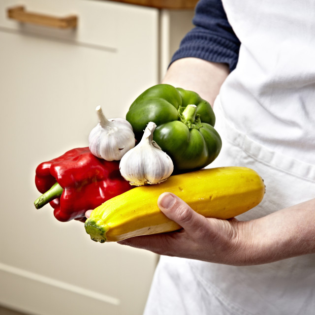 """Hands Vegetables 02"" stock image"