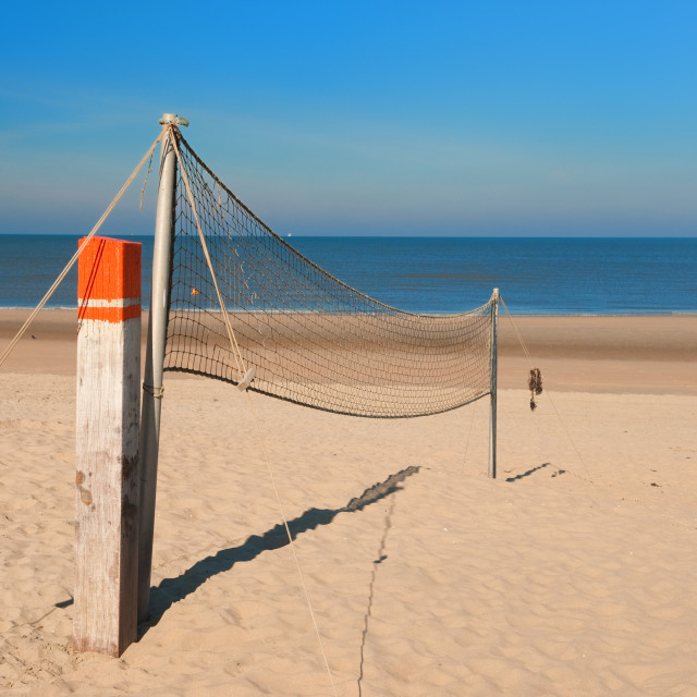 """Beach volley net"" stock image"