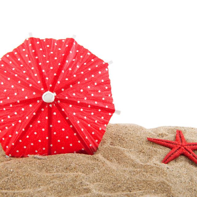 """parasol at the beach"" stock image"