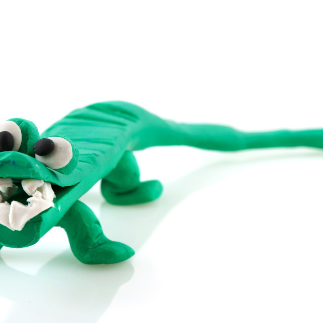 """clay crocodile"" stock image"