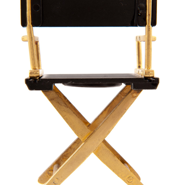 """Chair from director"" stock image"