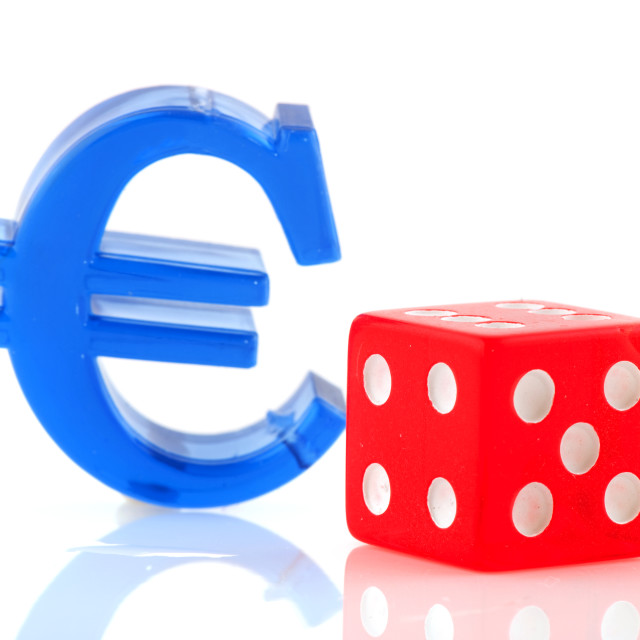 """""""Euro sign with dices"""" stock image"""