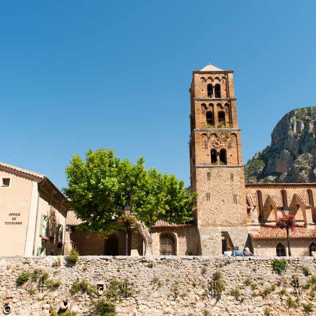 """Church in Moustiers st marie"" stock image"