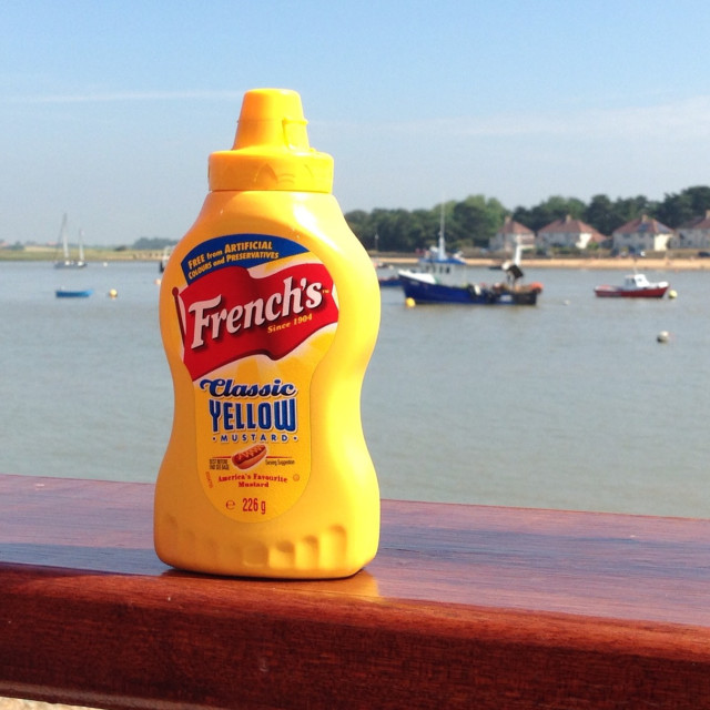 """French mustard on River Deben"" stock image"