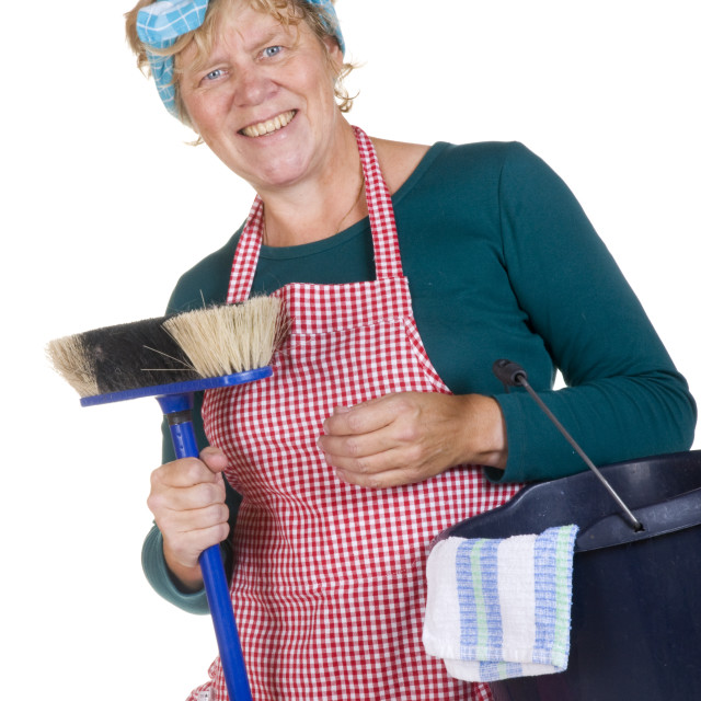 """""""Friendly typical house wife"""" stock image"""