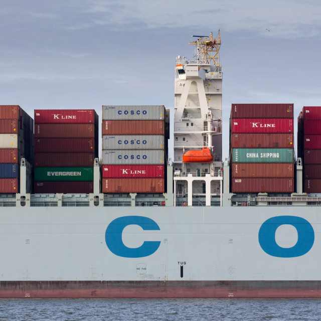 """Containership close-up, Felixstowe"" stock image"