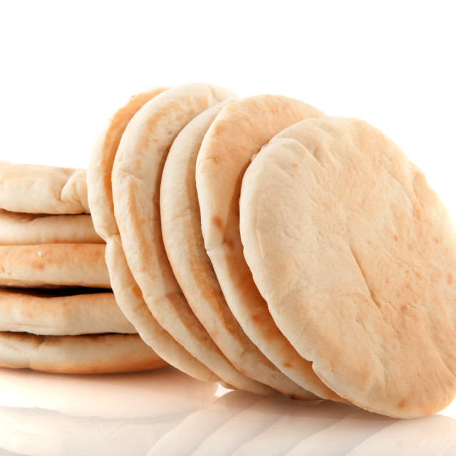 """Pita flat bread"" stock image"