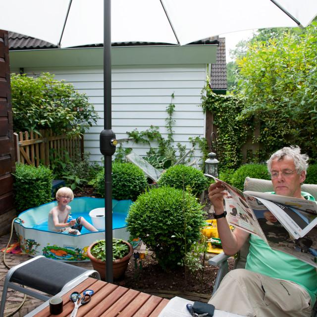 """""""Vakantie in de achtertuin"""" stock image"""