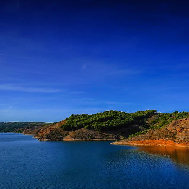 """""""Lake in Tarazona"""" stock image"""