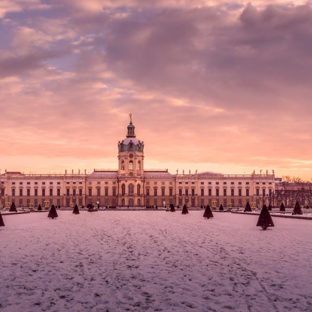 """Schloss Charlottenburg at Winter"" stock image"