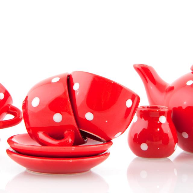 """Red crockery"" stock image"