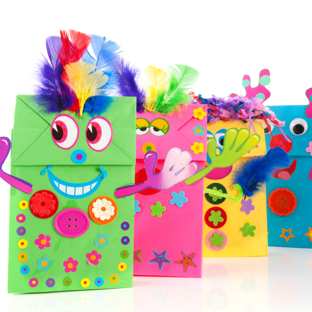 """""""Funny paper bags"""" stock image"""