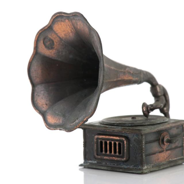 """Old gramophone"" stock image"