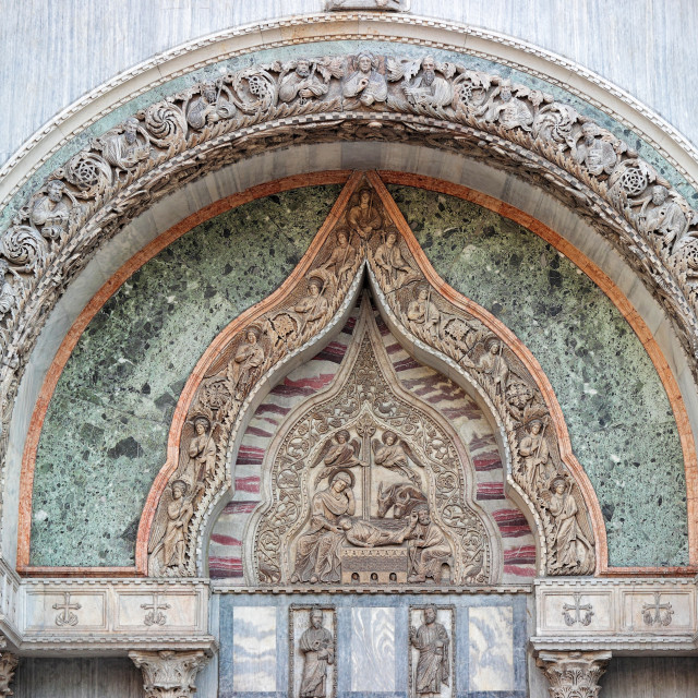 """""""Venice, detail of a side entrance of St. Mark's church"""" stock image"""
