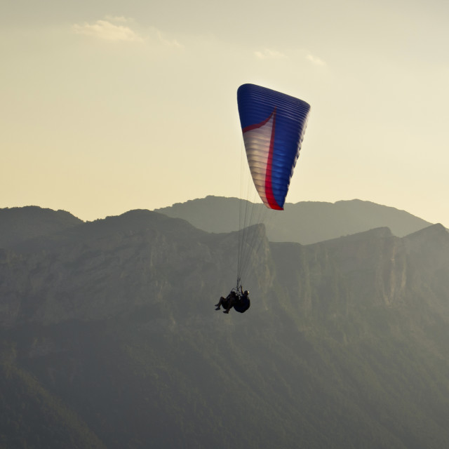 """Paragliding in Organyà"" stock image"