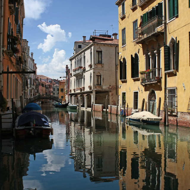 """""""A beautiful glimpse of a canal in Venice"""" stock image"""
