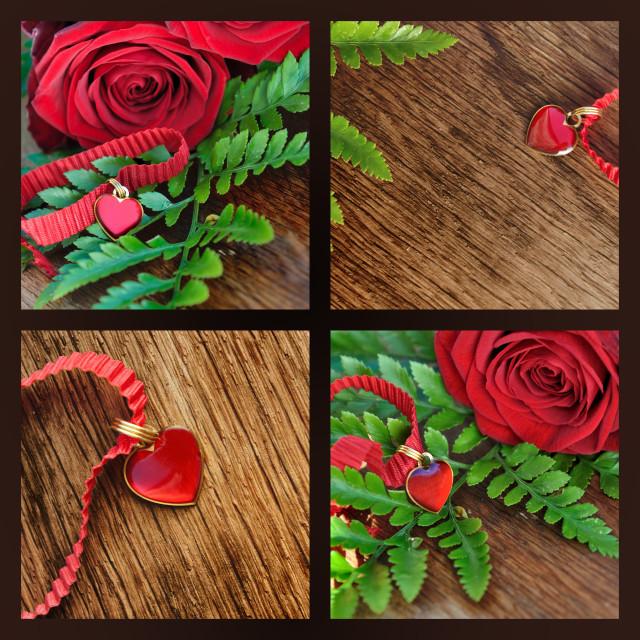 """collage valentine day"" stock image"
