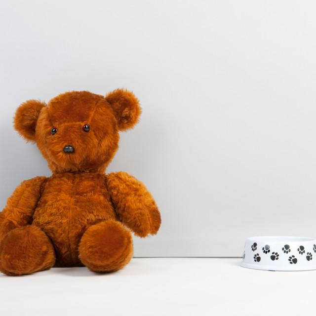 """Brown teddy bear"" stock image"