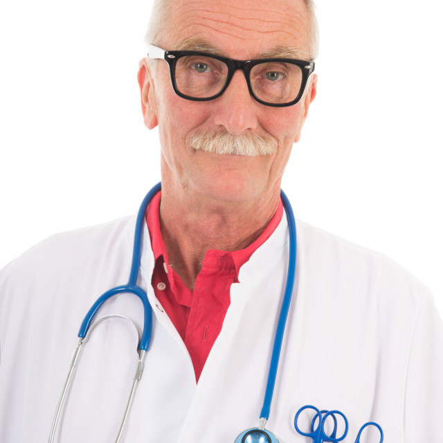 """Physician on white background"" stock image"