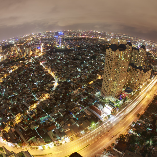 """high view at Ho Chi Minh City"" stock image"