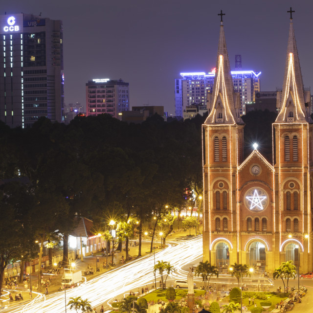 """""""Notre Dame cathedral, Ho Chi Minh city, Viet Nam"""" stock image"""