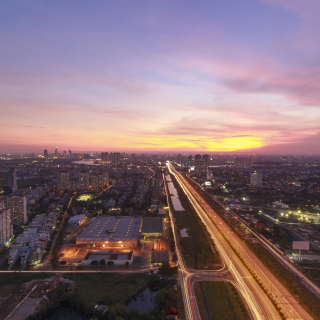 """""""Sky view from Cantavil Building, Viet Nam"""" stock image"""