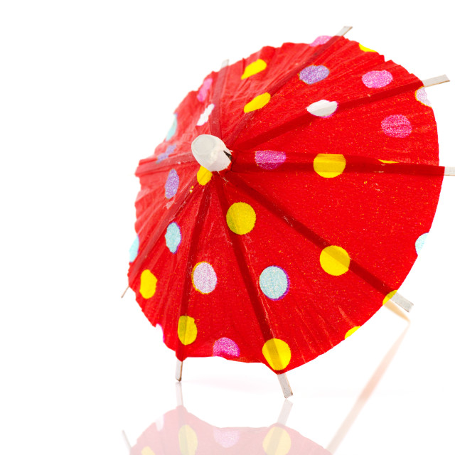 """""""Red paper parasol"""" stock image"""