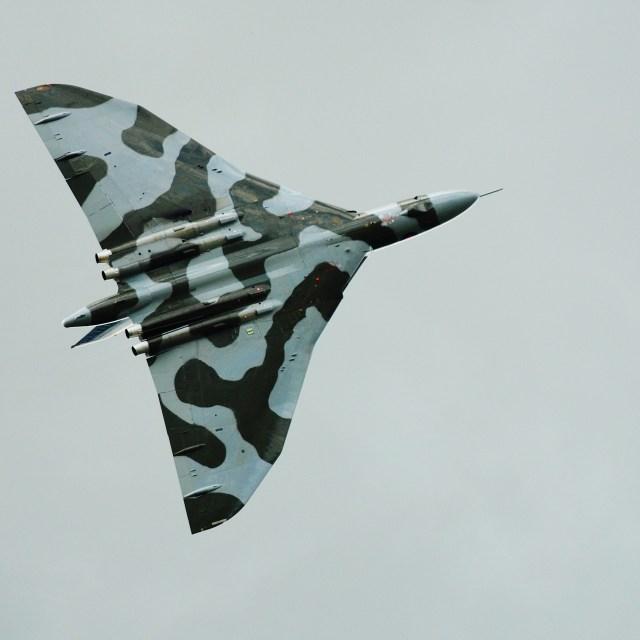 """Avro Vulcan bomber XH588"" stock image"
