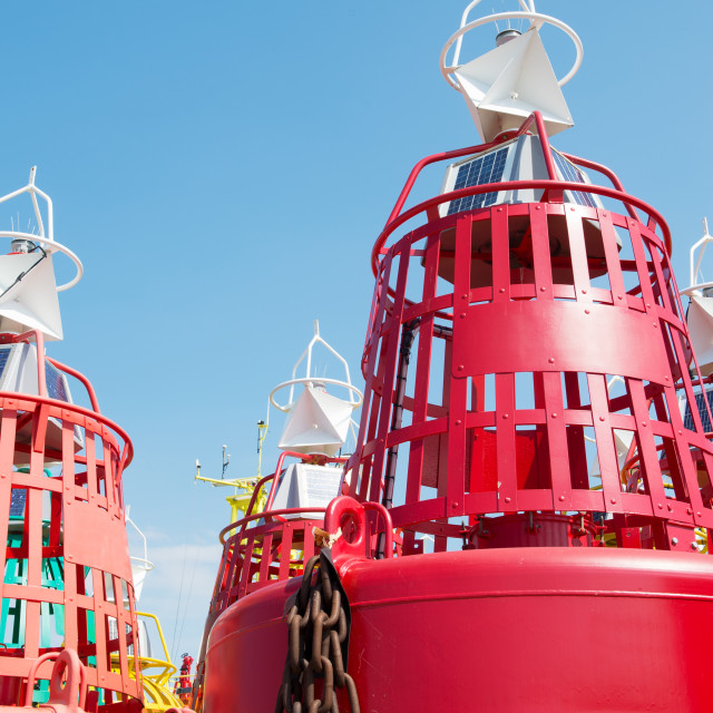 """""""Buoys for the sea"""" stock image"""