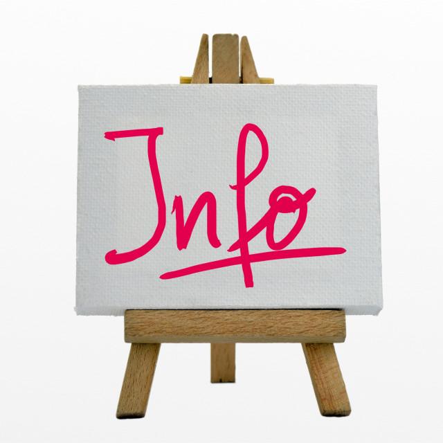 """""""Info"""" stock image"""