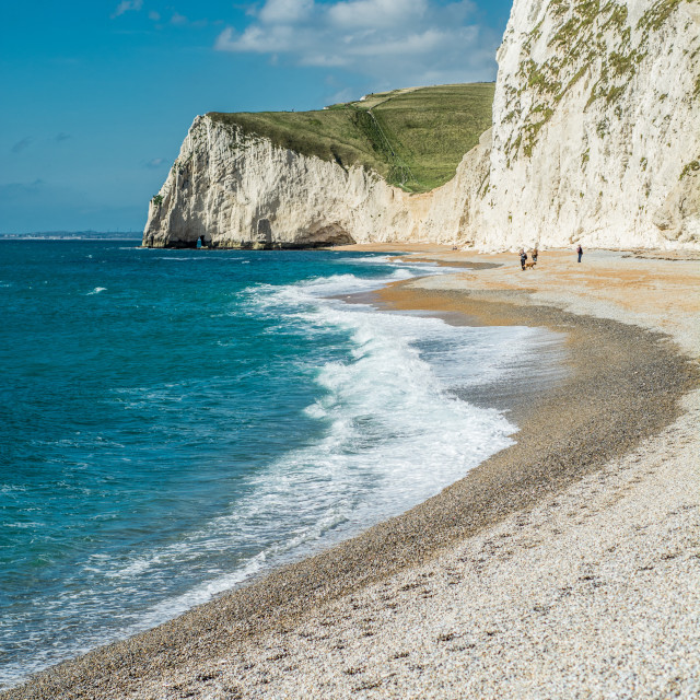"""Jurassic coast - West Lulworth, Dorset."" stock image"
