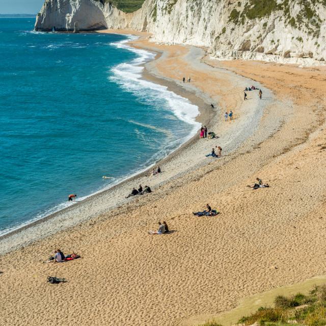 """Jurassic coast - West Lulworth, Dorset."" stock image"