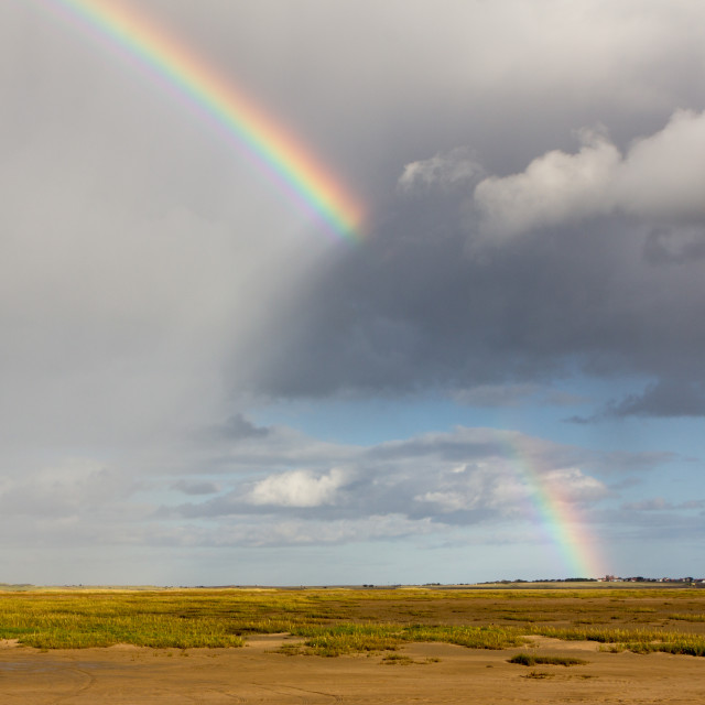 """Broken Rainbow, Holy Island, Northumberland"" stock image"