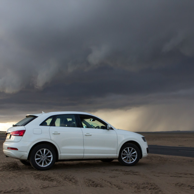 """Storms ahead for motor industry"" stock image"