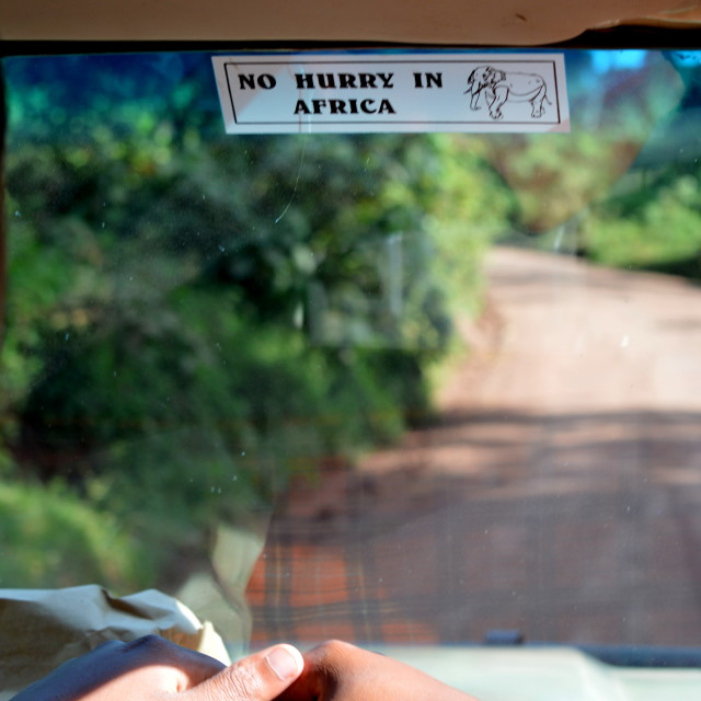 """""""No hurry in Africa"""" stock image"""