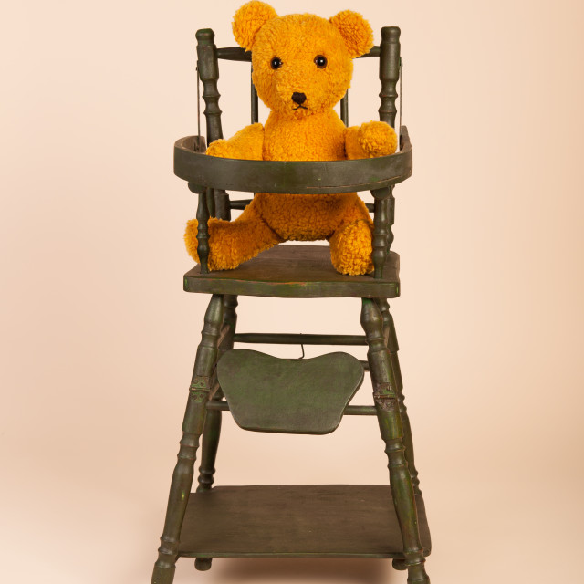 """""""Bear in child seat"""" stock image"""