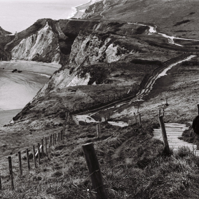 """The path to Durdle Door"" stock image"