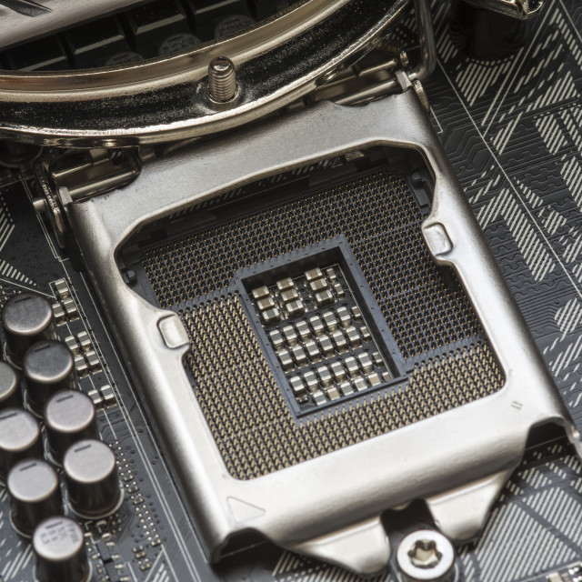 """Computer CPU socket"" stock image"