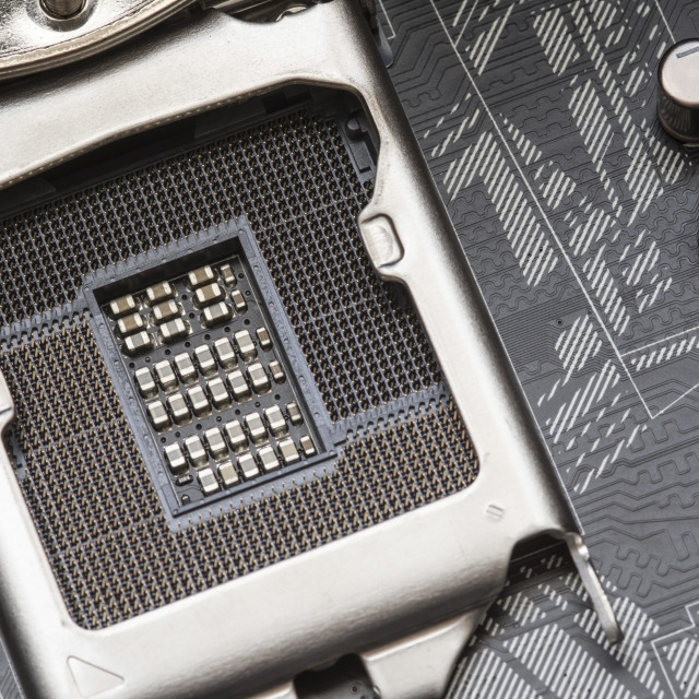 """CPU motherboard socket"" stock image"