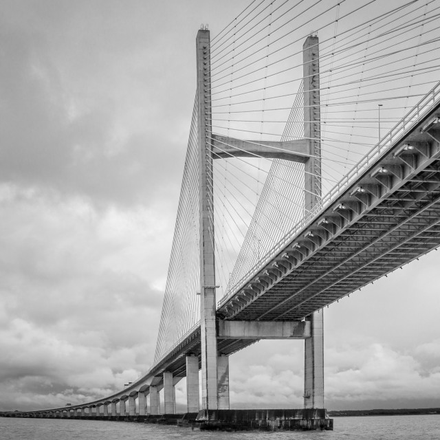 """""""The Second Severn Crossing"""" stock image"""