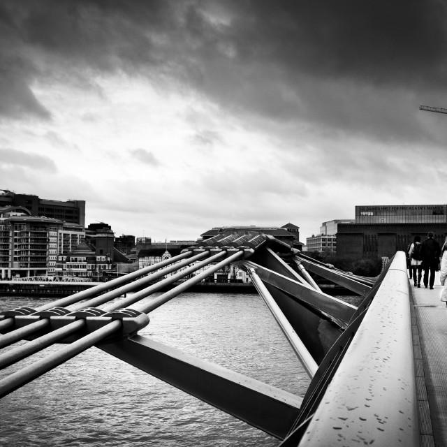 """""""Millennium Bridge 03"""" stock image"""