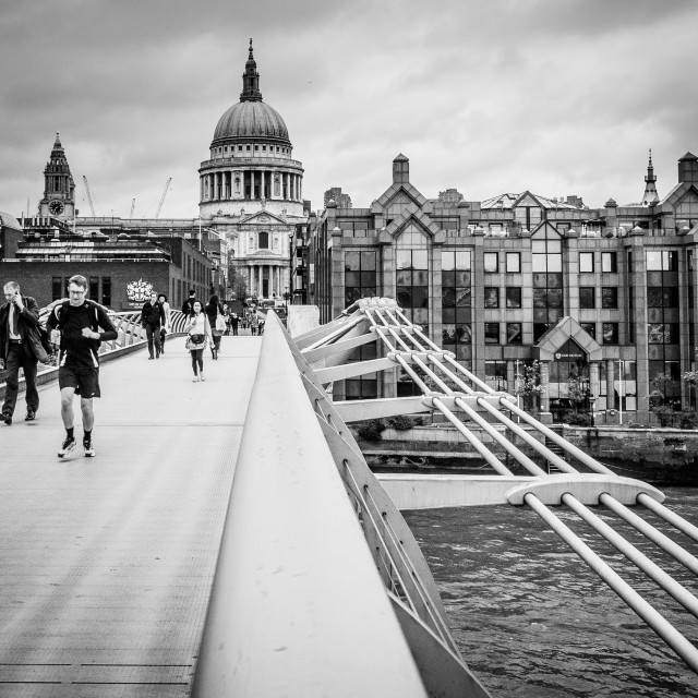 """""""Millennium Bridge 05"""" stock image"""