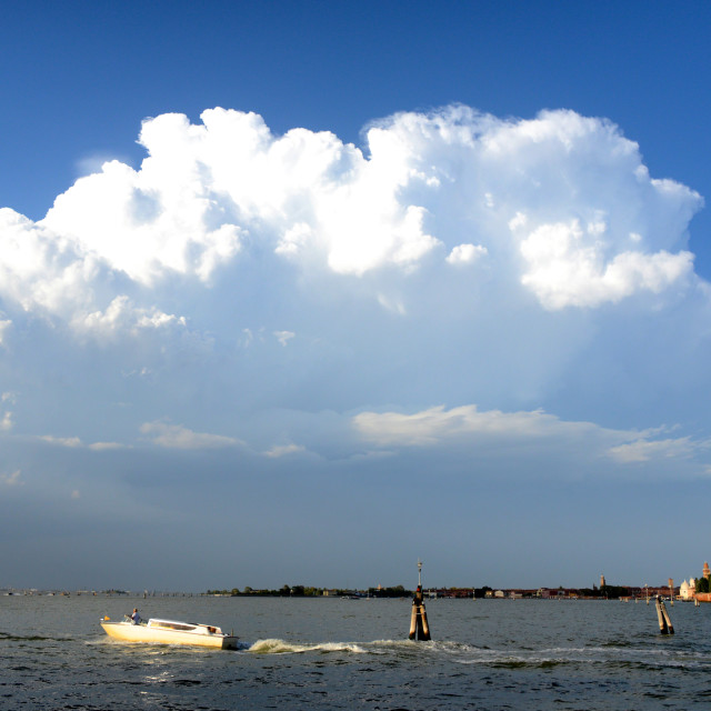 """Storm clouds loom over Venice, Italy"" stock image"